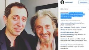 Gad Elmaleh avec Al Pacino sur Instagram.