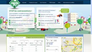 Capture écran du site http://alertepv.com, site collaboratif pour évite rles PV