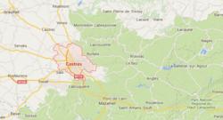 Carte de localisation de Castres