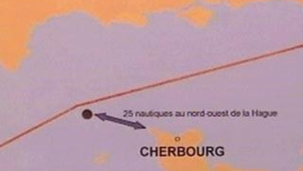 carte naufrage cherbourg 5 janvier
