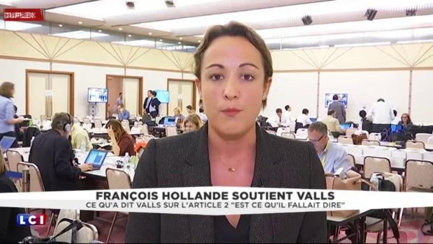 """Hollande soutient Valls : """"Ce qu'a dit le Premier ministre sur l'article 2 de la loi travail est ce qu'il fallait dire"""""""