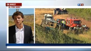 """Le 13 heures du 11 août 2013 : Accident d'autocar dans l'Aude : """"une enqu� judiciaire d�rre"""" - 297.265"""