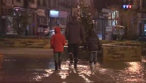 Le 20 heures du 6 février 2014 : Temp� �orlaix : la ville ferm��a circulation, les habitants se pr�re aux crues - 414.77922389221186