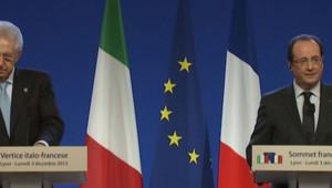 François Hollande et Mario Monti, le 3 décembre 2012