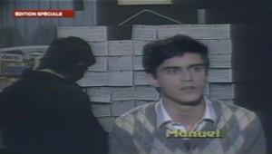 Manuel Valls à l'âge de 19 ans.
