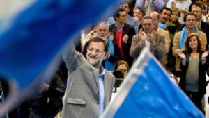 Mariano Rajoy, en meeting à Tolède, 14/11/11