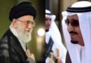 L'ayatollah Ali Khamenei, guide suprême de la République islamique d'Iran à gauche et le roi Salman d'Arabie Saoudite