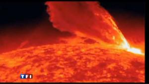 Les images de l'éruption solaire