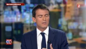 """Valls II : """"Nous ne pouvions pas accepter ça"""" annonce Manuel Valls"""