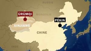 Carte du Xinjiang