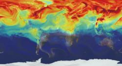 La NASA a modélisé les émissions de CO2 à travers l'atmosphère terrestre.