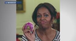 Michelle Obama danse avec un navet dans une vidéo postée sur internet.