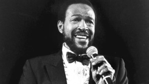 Photo non datée de Marvin Gaye en concert