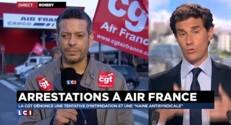 """Arrestations à Air France : la CGT dénonce une """"opération théâtrale"""""""
