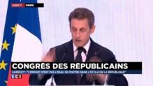 """Congrès des Républicains : pour Sarkozy, """"le travail ne sera pas moins payé que l'assistanat"""""""