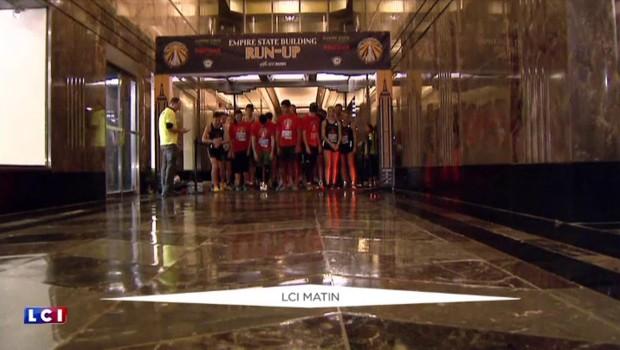Course de l'Empire State Building de New York, il a gravi 86 étages en 10 minutes