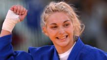 La Française Automne Pavia, médaillée de bronze des -57 kg du aux JO de Londres, le 30 juillet 2012.