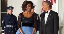 Michelle Obama à la Maison Blanche lors du dîner d'Etat en l'honneur de François Hollande le 11 février 2014