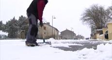 Le 13 heures du 24 janvier 2015 : En Meurthe-et-Moselle, la population surprise par la neige - 287.09294400024413