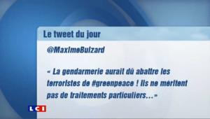 Maxime Buizard, porte-parole des Jeunes populaires pour le Loiret (45), a été suspendu de ses fonctions lundi, en raison d'un tweet violent contre Greenpeace.