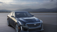 La troisième génération de la Cadillac CTS-V, équipée d'un V8 de 640 ch pour aller chasser les BMW M5 et autres Mercedes E63 AMG.