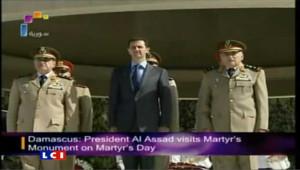 Syrie: 1re apparition du président Assad depuis 3 semaines
