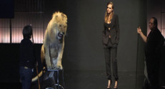 cara delevingne lion fashion week paris