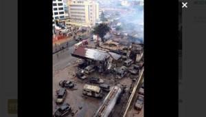 L'incendie d'une station-essence au Ghana