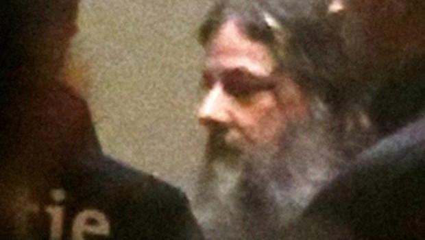 Marc Dutroux, méconnaissable, le 04/02/2013, lors de l'audience pour sa première demande de libération conditionnelle.