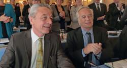 Alain Millot (à gauche) avec François Rebsamen (à droite).