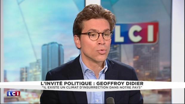 """Geoffroy Didier, invité de LCI : """"Il existe un climat d'insurrection dans notre pays"""""""