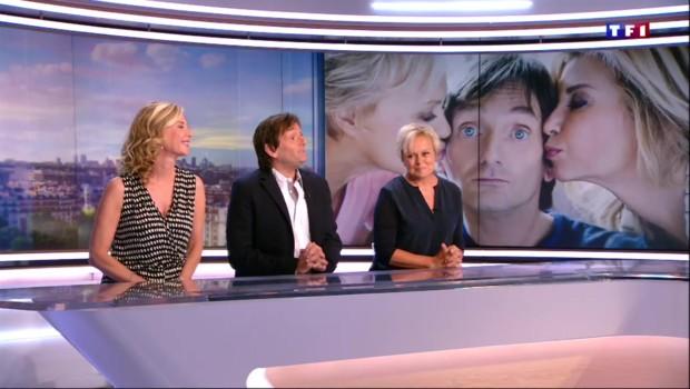 """""""Ils s'aiment depuis 20 ans"""" : Michèle Laroque, Pierre Palmade et Muriel Robin sont les invités du 20H"""