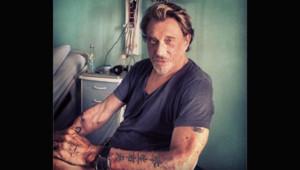 Le photo de Johnny Hallyday, hospitalisé à Fort-de-France, publiée le 30 août 2012 sur le twitter de Laeticia Hallyday