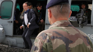 François Hollande à Kaboul, en Afghanistan, le 25 mai 2012.