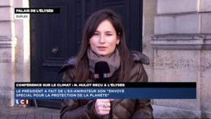"""Hollande reçoit Nicolas Hulot : """"Montrer que l'écologie sera le dossier de l'année"""""""