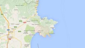 Carte de localisation de la ville de Roses en Espagne