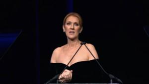 Céline Dion lors de la cérémonie hommage à René Angélil à Las Vegas.