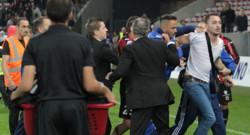 nice Bastia échauffourées supporters drapeau corse