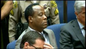 Conrad Murray lors de la lecture du verdict au tribunal de Los Angeles, le 7 novembre 2011.