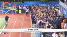 Euro 2016 : séance d'entraînement en public pour les Bleus, 500 supporteurs présents