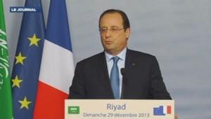 François Hollande à Riyad 29/12/13