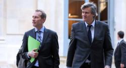 Guillaume Garot, ministre délégué à l'agroalimentaire et Stéphane Le Foll, ministre de l'agriculture.