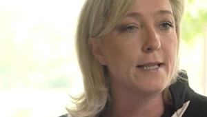 Marine Le Pen lors de sa conférence de presse dans le Pas-de-Calais vendredi matin