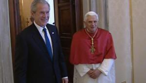 TF1/LCI : La première rencontre entre George W. Bush et Benoît XVI au Vatican (9 juin 2007)