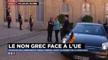 Grèce : Angela Merkel arrive à l'Elysée