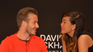 David Beckham en dédicace à Paris