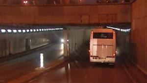 Le jury britannique dans le tunnel du pont de l'Alma, lundi 08 octobre au soir