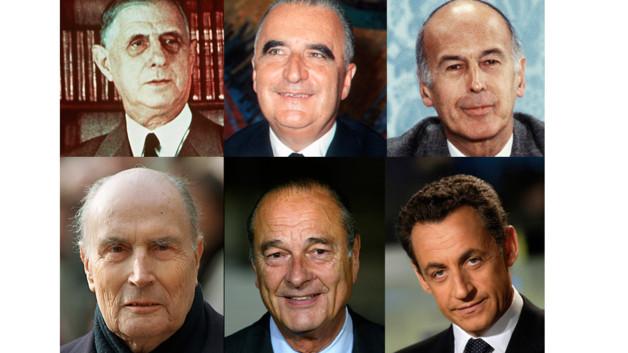 Les 6 présidents de la Vème République