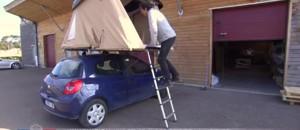 Une tente sur le toit d'une voiture : une invention made in France