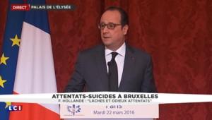 """Attentats à Bruxelles : """"C'était l'Europe qui était visée"""", affirme François Hollande"""